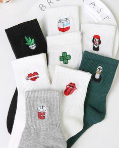Underwear & Sleepwears Nice Autumn Winter Chinese Knot Art Men Socks Embroidery Fu Character Brand Retro Vintage Crew Cotton Male Festive Tube Socks