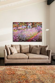 Image of  Jardin De Giverny by Claude Monet Canvas Print