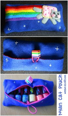 by weebird on DeviantArt Nyan Cat, Sewing Kit, Deviantart, Cats, Birthday, Gatos, Birthdays, Cat, Kitty