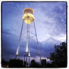 Beautiful shot of the #GilbertAZ Water Tower taken by Instagram user @Jeremy CD.