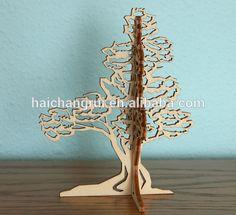 3D bois Table de noël arbre pour la décoration de la chambre - Service de découpe Laser