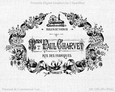FRENCH CORSET LABEL Clipart Commercial Use Clipart by ClipArtBrat