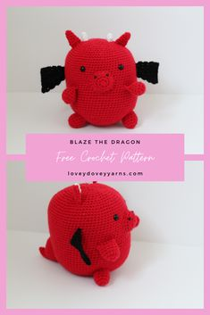 Learn how to make him with my free crochet dragon pattern. Afghan Crochet Patterns, Amigurumi Patterns, Knitting Patterns, Cute Crochet, Crochet Yarn, Crochet Dragon Pattern, Lovey Dovey, Love Is Free, Crochet Videos