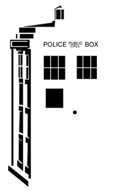 TARDIS free printable stencil by ~adams-ransom on deviantART - not sure how to do the words.?.?