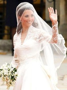 Princess Kate!!!!! Absolutely loved everything about her wedding look...