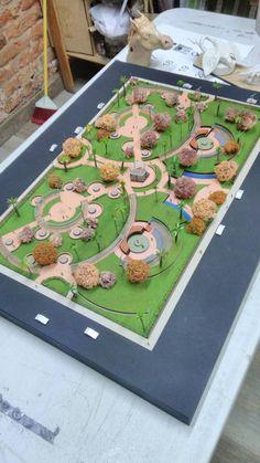 Landscape Architecture Model, Architecture Model Making, Architecture Concept Diagram, Landscape Design Plans, Education Architecture, Architecture Portfolio, Urban Design Plan, Parking Design, Planer