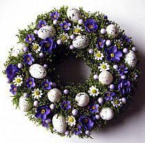 piekne wience z fioletem na Stylowi.pl Delft, Christmas Wreaths, Easter, Holiday Decor, Spring, Diy, Home Decor, Holiday Wreaths, Decoration Home