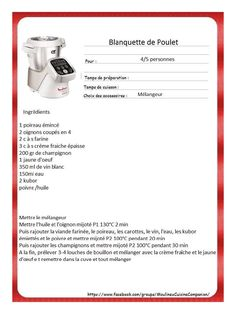 Aperçu du fichier Recettes Plats Companion.pdf Kitchenaid, Prep & Cook, Actifry, Cooking Chef, Cooking Classes, Food And Drink, Desserts, Robots, Grand Chef