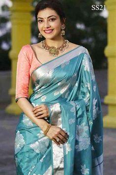 Latest Bridal Saree Designs are Pastel Shades of Kanjeevaram Bridal saree collection. Peach shade sarees, Lilac bridal sarees, Purple kanchipuram sarees, Turquoise Sarees, Mint shade saree designs and many more collection in handloom sarees Trendy Sarees, Stylish Sarees, Fancy Sarees, Silk Saree Blouse Designs, Bridal Blouse Designs, Blouse Silk Saree, Bridal Sarees South Indian, Indian Sarees, Indian Dresses