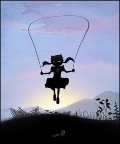 Silhouette Super Kids Created by Andy Fairhurst-Catwoman