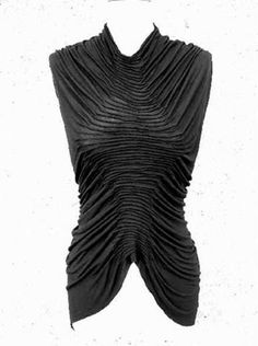 Structural fabric manipulation for fashion with fine 3D pleat textures - creative sewing; garment design detail // Susan Waller #textiles