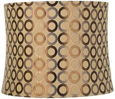 Copper Circles Drum Lamp Shade 13x14x11 (Spider) -- Want to know more, click on the image. (This is an affiliate link) #LampShades