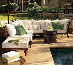 Love this furniture surrounding the pool!gh
