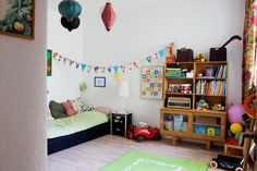 A vintage inspired kids room with lots of colour and charm