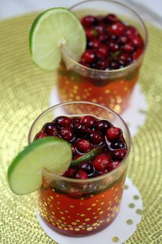 Cranberry Lime Cocktail Recipe
