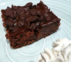 brownies haricots noirs et chocolat
