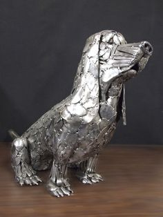 Gary Hovey Sculptures - made from flatware. Click through for more totally amazing sculptures!