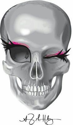 These eyelashes on the skull Skull Tattoos, Body Art Tattoos, Dragon Tattoos, Tatoos, Los Muertos Tattoo, Estilo Rock, Sugar Skull Art, Sugar Skulls, Tattoo Ink
