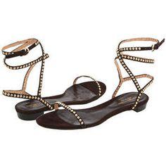 Sergio Rossi Majuli Studded Flat Sandals - Polyvore
