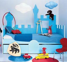1e1efe5be87899 Un lit d enfant en forme de château. Décoration Chambre Bébé GarçonChambre  ...