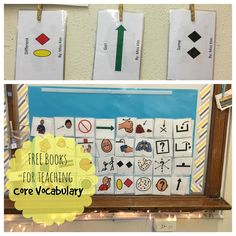 """I started teaching my kiddos the """"first 40"""" core vocabulary  in January. It's been super fun to use direct instruction and hands on activiti..."""