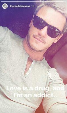 from Luke Evans' Instagram Story (September 10th, 2016)