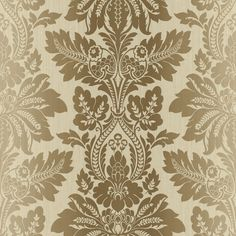 "Pompei Syracuse Leafy 33' x 20.5"" Damask 3D Embossed Wallpaper"