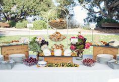 Vintage Santa Barbara Wedding Dessert Table