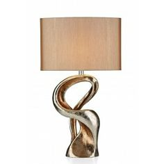 £105 Alchemy Table Lamp Gold Resin complete with Shade ALC4335RS/X - catalogue