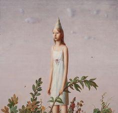 Los increíbles mundos interiores de las chicas pintadas por Aron Wiesenfeld.                              AronWiesenfeld