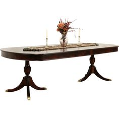 A Traditional Mahogany Dining Table From The 1940s