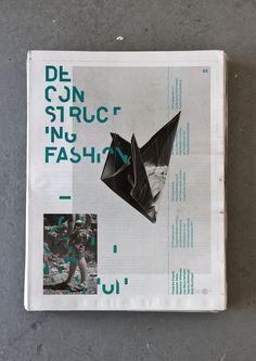 Deconstructing Fashion Newspaper by Alexander Sellas, via Behance