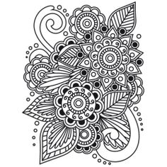 mehndi indian floral henna element mandala for tatoo or card illustration isolated on white background pinterest mehndi - Henna Coloring Pages