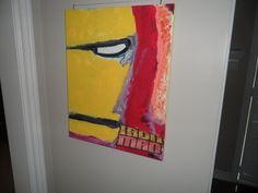 Iron Man painting on the wall!