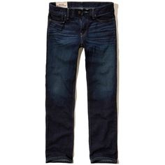 Hollister Relaxed Straight Jeans ($50) ❤ liked on Polyvore featuring men's fashion, men's clothing, men's jeans, dark wash, mens faded jeans, men's relaxed fit jeans, mens denim jeans, mens dark denim jeans and mens relaxed boot cut jeans