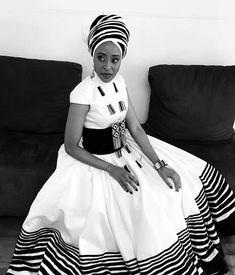African Wedding Attire, African Attire, South African Traditional Dresses, Xhosa Attire, Groomsmen Outfits, Shweshwe Dresses, African Wear Dresses, African Culture, African Design