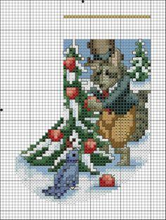 Christmas Stocking Holders, Cross Stitch Christmas Ornaments, Christmas Cross, Counted Cross Stitch Patterns, Cross Stitch Designs, Cross Stitch Magazines, Xmas Stockings, Miniature Christmas, Crafts
