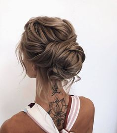 30 Incredible Hairstyles for Thin Hair French Twist Hochsteckfrisur ! Braids With Curls, Cool Braids, Amazing Braids, Bridal Hair Updo, Wedding Hair And Makeup, Prom Hair Updo Elegant, Prom Updo, Updo Styles, Curly Hair Styles