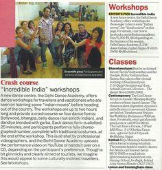 Namaste India Dance Workshop on Timeout Delhi