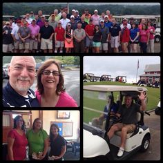 Freeman Atlanta during their charity golf tournament to benefit the American Heart Association - rain or shine! #FreemanCo #TrueBlue #AmericanHeartAssociation #AHA #GolfTournament