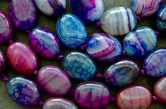 Agate Beads Large Purple Pink Blue Agate Stone Bead Large Focal Beads, Dragon Veins Agate by TheBeadBandit on Etsy Agate Beads, Gemstone Beads, Purple Agate, Agate Stone, Shades Of Purple, Pink Blue, Jewelry Design, Dragon, Shapes