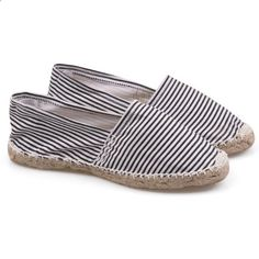 #TOMS #CheapTOMS Toms Womens Stripe Shoes white and black Are Fashionable Forever, Making You Popular All The Time.Choice It! You Will Never Disappoint!