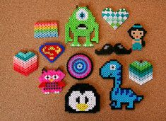 eighteen25: Perler Bead Jewelry....my girls love this and I never know what to do with them.