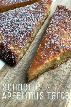 Quick applesauce tart with healthy ingredients - YUMYUMS - Backen-LC-Favoriten - Best Tart Recipes Bolo Vegan, Vegan Cake, Food Cakes, Quick Healthy Desserts, Healthy Recipes, Stay Healthy, Healthy Life, Desserts Sains, New Cake