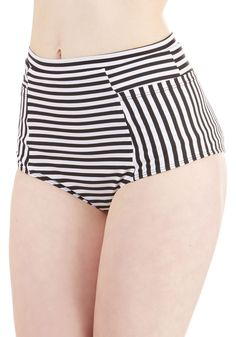 Sunbathing in Stripes Swimsuit Bottom | Mod Retro Vintage Bathing Suits | ModCloth.com