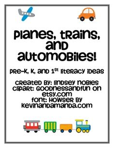 This pack was created for Pre-K, Kindergarten, and 1st grade students and can be used to supplement a full transportation unit. It includes several...