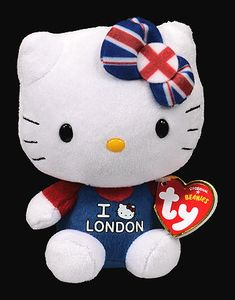Hello Kitty (I Love London) - cat - Ty Beanie Babies