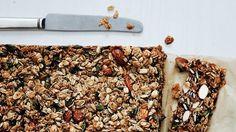 Nutty Grain and Oat Bars Recipe | Bon Appetit