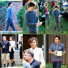 First set photos of Spiderman:Homecoming I am super exited for this but ya know like I'm not sure zendaya is nerdy enough to play in a marvel movie but ya know whatever