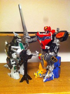 Mighty Morphin Power Rangers Original DX Dino Megazord and  DX Dragonzord   #Bandai